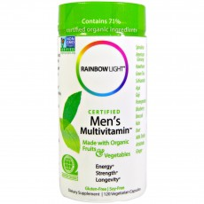 레인보우 라이트, 유기농 인증, 남성용 종합비타민, 120 베지캡