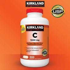 Kirkland Signature™, 비타민 C 1000 mg 로즈힙 첨가, 500 타블렛