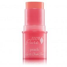 100% Pure, 입술 & 볼 틴트 Lip&CheeK Tint - 피치-, 0.26 oz / 7.5 g