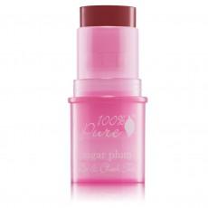 100% Pure, 입술 & 볼 틴트 Lip & CheeK Tint 슈가 플럼 쉬어, 0.26 oz / 7.5 g