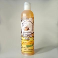 버블앤비, 100% 천연 레몬그라스 & 로즈마리 샤워 젤, 16 fl oz (472 ml)