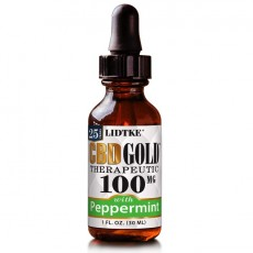LIDTKE, CBD GOLD Peppermint 100MG, 1 oz