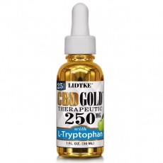 LIDTKE, CBD GOLD With L Tryptophan 250MG, 1 oz