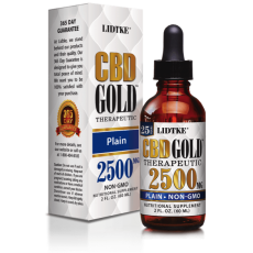 LIDTKE, CBD GOLD Plain 2500MG, 2 oz