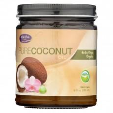 Life Flo Health, 순수 코코넛 오일 유기농 엑스트라 버진, 9 fl oz (266 ml)