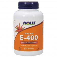 나우 Now, 100% 천연 혼합 토코페롤, 비타민E-400 IU, 250 소프트젤