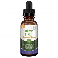 GREEN EARTH BOTANICALS, CBD Oil 1000Mg Unflavored, 1 oz