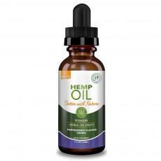 GREEN EARTH BOTANICALS, CBD Oil 500Mg Lemon, 1 oz