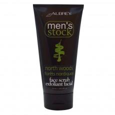 오브리 오가닉스, Men's Stock, North Woods 페이스 스크럽, 6 fl oz (177 ml)