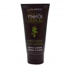 오브리 오가닉스, Men's Stock, North Woods 쉐이브 크림, 6 fl oz (177 ml)