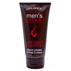 오브리 오가닉스, Men's Stock, 쉐이브 크림, 스파이스 아일랜드, 6 fl oz (177 ml)