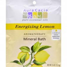 아우라카시아, 미네랄 배쓰 Energizing Lemon, 2.5 oz (70.9 g)
