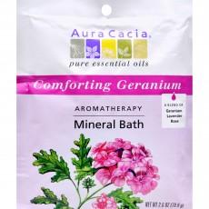 아우라카시아, 미네랄 배쓰 Comforting Geranium, 2.5 oz (70.9 g)