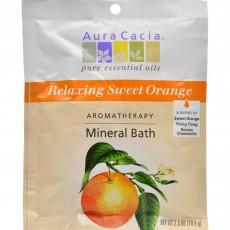 아우라카시아, 미네랄 배쓰 Relaxing Sweet Orange, 2.5 oz (70.9 g)
