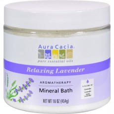 아우라카시아, 아로마테라피 미네랄 바스 (Relaxing Lavender), 16 oz (454 g)