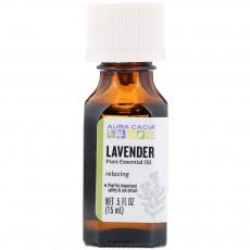 아우라카시아, 에센셜 오일 릴렉싱 (라벤더), .5 fl oz (15 ml)