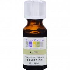 아우라카시아, 에센셜 오일 Freshening (Lime), .5 fl oz (15 ml)