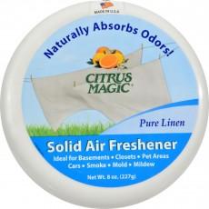 시트러스매직, 솔리드 에어 프레셔너 (Pure Linen), 8 oz (227 g), 1 Air Freshener