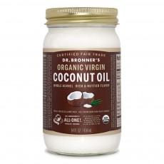 닥터브로너스, 유기농 비정제 코코넛 오일 Rich & Nuttier Flavor, 14 oz (414 ml)