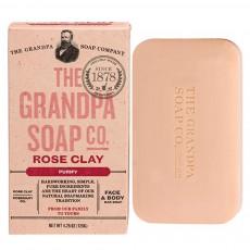 Grandpa's, [피부정화] 로즈 클래이 얼굴 & 바디 전용 비누, 4.25 oz (120 g)