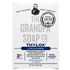 Grandpa's, Thylox, 100% 천연 식물성 아크네 전용 비누, 3.25 oz (92 g)