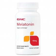 GNC, 멜라토닌 10 mg, 60 식물성 타블렛