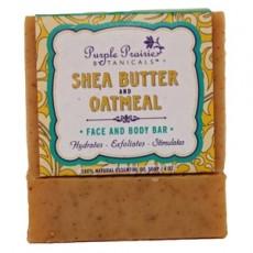 퍼플 프레리, 시어 버터 오트밀 비누, 4 oz (113 g)
