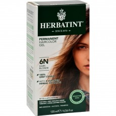 허바틴트, 퍼머넌트 허벌 헤어컬러 염색약 (6N, Dark Blonde), 4.56 fl oz (135 ml)