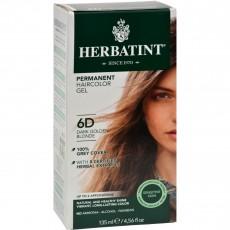 허바틴트, 퍼머넌트 허벌 헤어컬러 염색약 (6D, Dark Golden Blonde), 4.56 fl oz (135 ml)