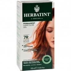 허바틴트, 퍼머넌트 허벌 헤어컬러 염색약 (7R, Copper Blonde), 4.5 fl oz (135 ml)
