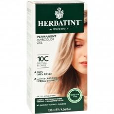 허바틴트, 퍼머넌트 허벌 헤어컬러 염색약 (10C, Swedish Blonde), 4.56 fl oz (135 ml)