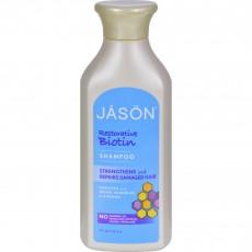 제이슨, 퓨어 네츄럴 샴푸, 리스토러티브 바이오틴, 16 fl oz (500 ml)