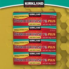 [구매대행] Kirkland Signature™, Hydrocortisone 1% 플러스 안티 이치 크림, 4팩 (2 oz x 4 Tubes)
