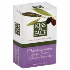 키스 마이 페이스, 천연 올리브 & 라벤더 Soap, 8.0 oz (230 g)