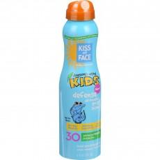 키스 마이 페이스, Kids Defense 미네랄, SPF 30 스프레이 로션, 6 fl oz (177 ml)