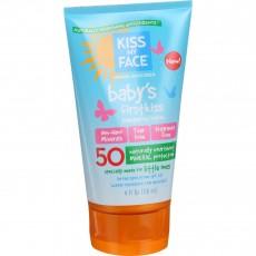 키스 마이 페이스, Baby's First Kiss SPF50 로션, 4 fl oz (118 ml)