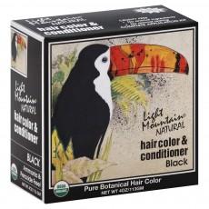 라이트 마운틴, 헤어칼라& 컨디셔너, Black, 4 oz (113g), (천연염색)