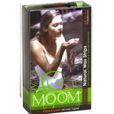 뭄 MOOM, 천연 왁스 스트립 얼굴&비키니 라인용 - 천연제모제- 20개입