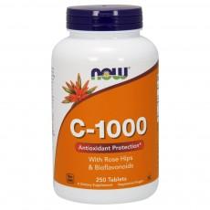 나우 Now, 비타민 C-1000, 로즈 힙과 바이오플라보노이드 함유, 250 정