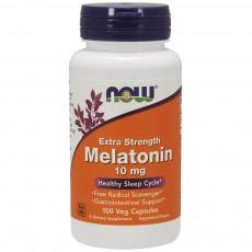 나우 Now, 멜라토닌, 엑스트라 스트렝스, 10 mg, 100 식물성 캡슐