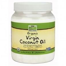 나우 Now, USDA ORGANIC 버진 코코넛 오일, 54 fl oz (1.6 L)