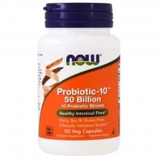 나우 Now, 프로바이오틱 - 10, 500억 마리, 50 식물성 캡슐