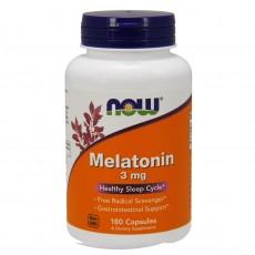 나우 Now, 멜라토닌 3 mg, 180 캡슐