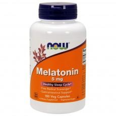 나우 Now, 멜라토닌 5 mg, 180 캡슐