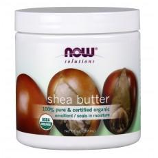 나우 Now, 100% 퓨어, USDA 인증 유기농, 시어 버터, 7 oz (207 ml)