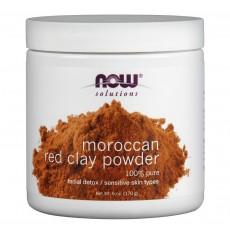나우 Now, 모로칸 레드 클래이, 페이셜 디톡스 파우더 마스크, 6 oz (170 g)