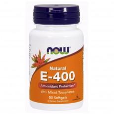 나우 Now, 100% 천연 혼합 토코페롤, 비타민E-400 IU, 50 소프트젤
