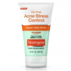 뉴트로지나, 오일 프리 아크네 스트레스 컨트롤 파워-클리어 스크럽, 125 ml (4.2 fl oz)