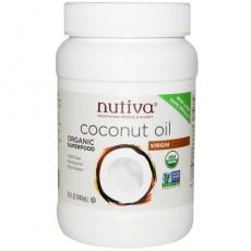 누티바, 유기농 버진 코코넛 오일, 15 oz (444 ml)