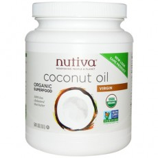 누티바, 유기농 버진 코코넛 오일, 54 oz (1.6 L)